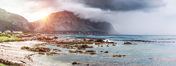 Beautiful landscape of Betty's Bay - Stock Photo - Images