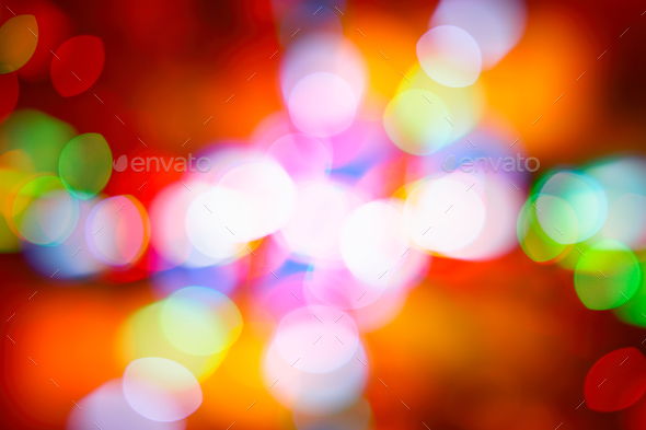 Festive colorful bokeh background - Stock Photo - Images