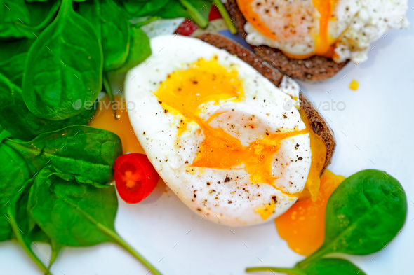 Delicious eggs Benedict - Stock Photo - Images