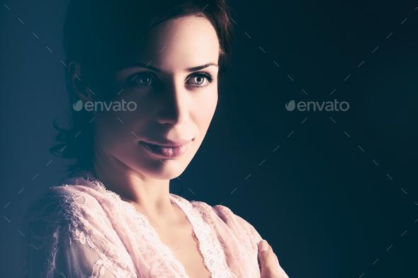 Gentle woman portrait - Stock Photo - Images