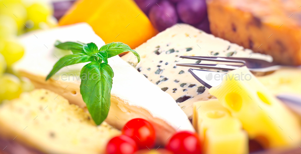 Tasty cheese background - Stock Photo - Images
