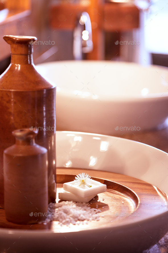 Luxury bathroom interior - Stock Photo - Images