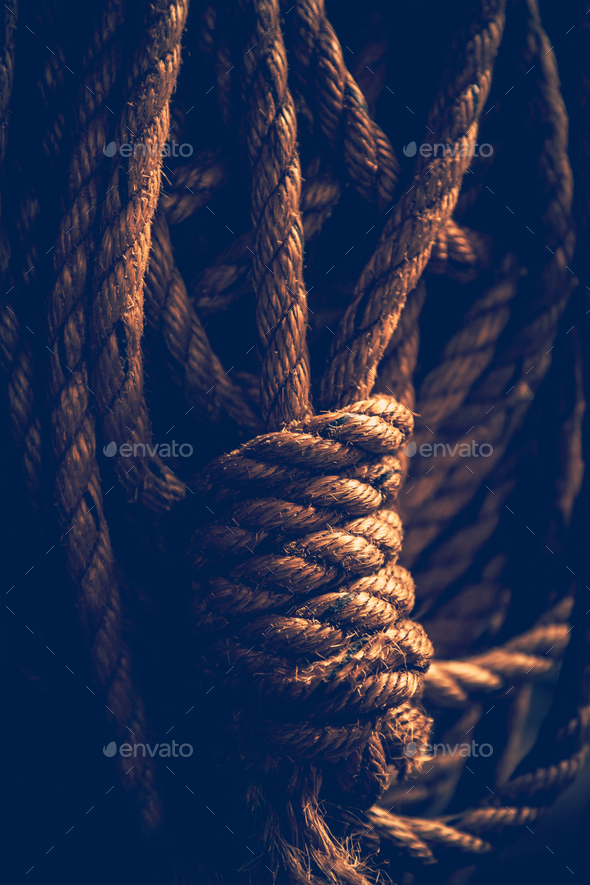 Vintage rope - Stock Photo - Images