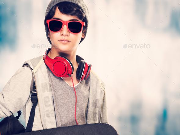 Stylish boy portrait - Stock Photo - Images
