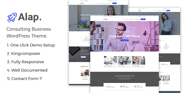 Alap – Consulting and Business WordPress Theme - Business Corporate