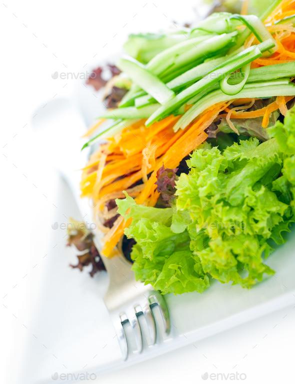 Fresh tasty green salad - Stock Photo - Images