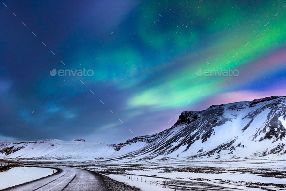 Beautiful northern lights - Stock Photo - Images
