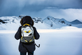 Traveler enjoying winter landscape - PhotoDune Item for Sale