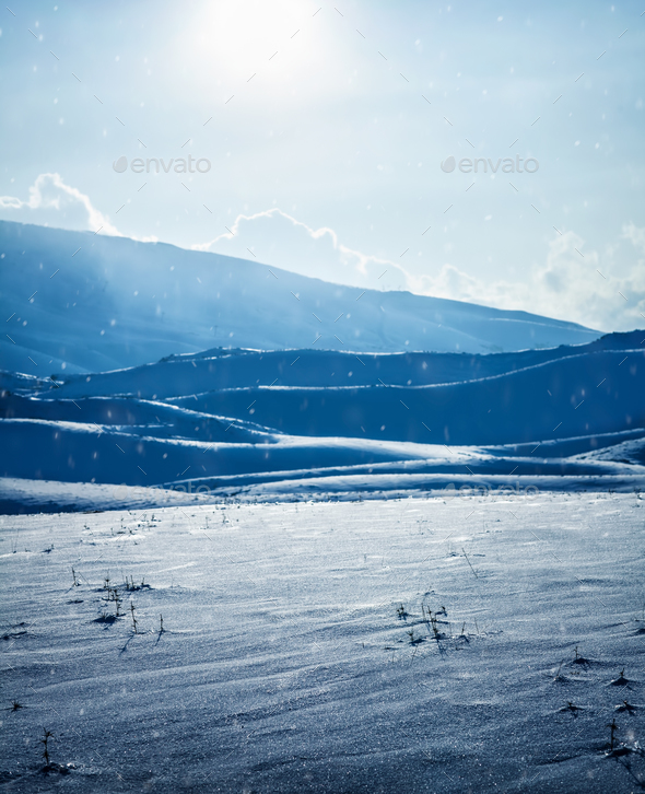Beautiful winter landscape - Stock Photo - Images
