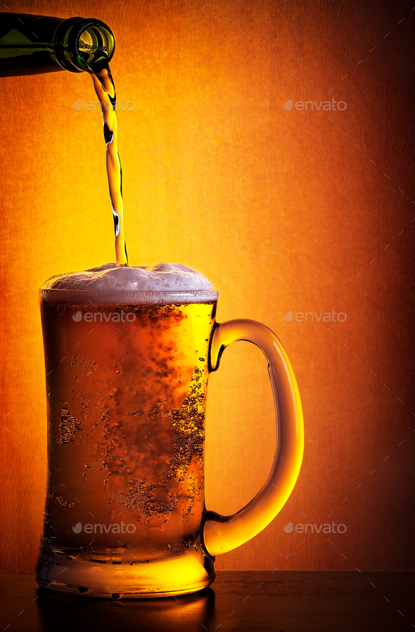 Tasty cold beer - Stock Photo - Images