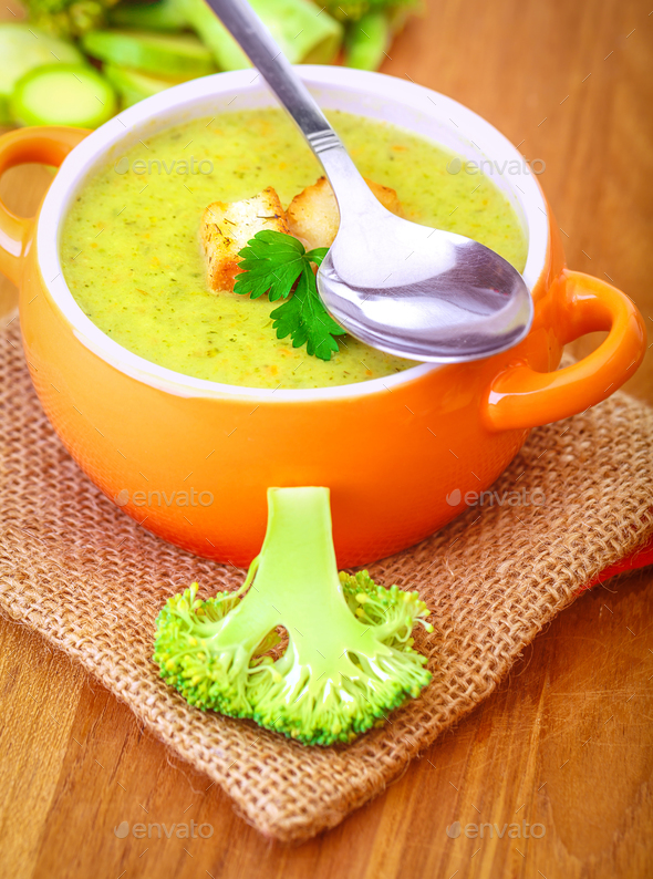 Delicious vegetarian soup - Stock Photo - Images