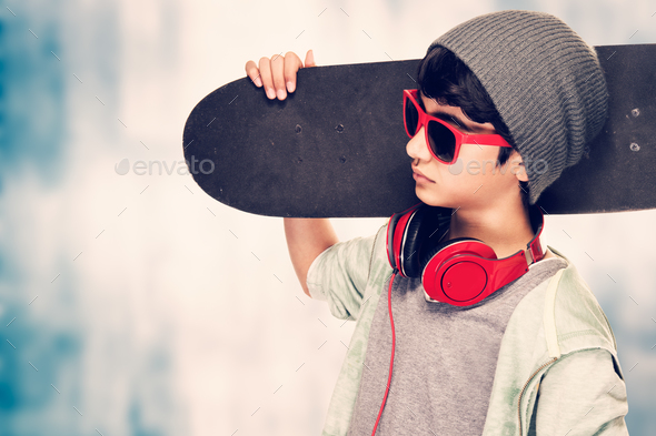 Stylish boy portrait - Stock Photo - Images