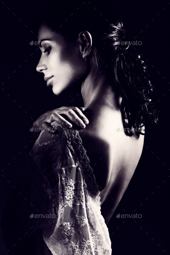 Beautiful sensual woman - Stock Photo - Images