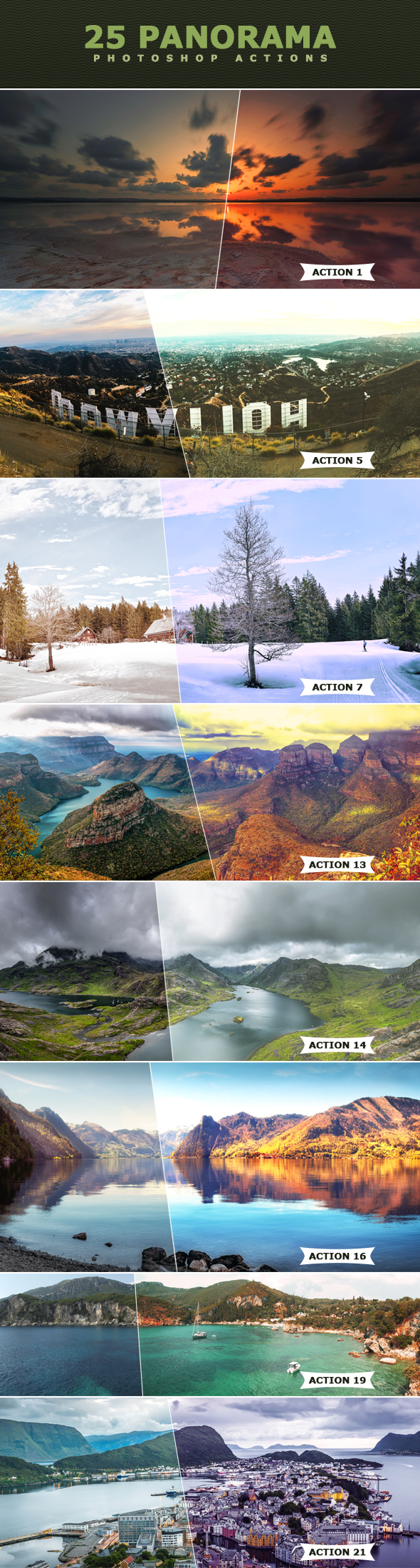 25 Panorama Actions - Photo Effects Actions