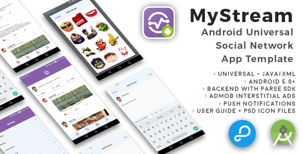 Download Source code              MyStream | Android Universal Social Network App Template            nulled nulled version