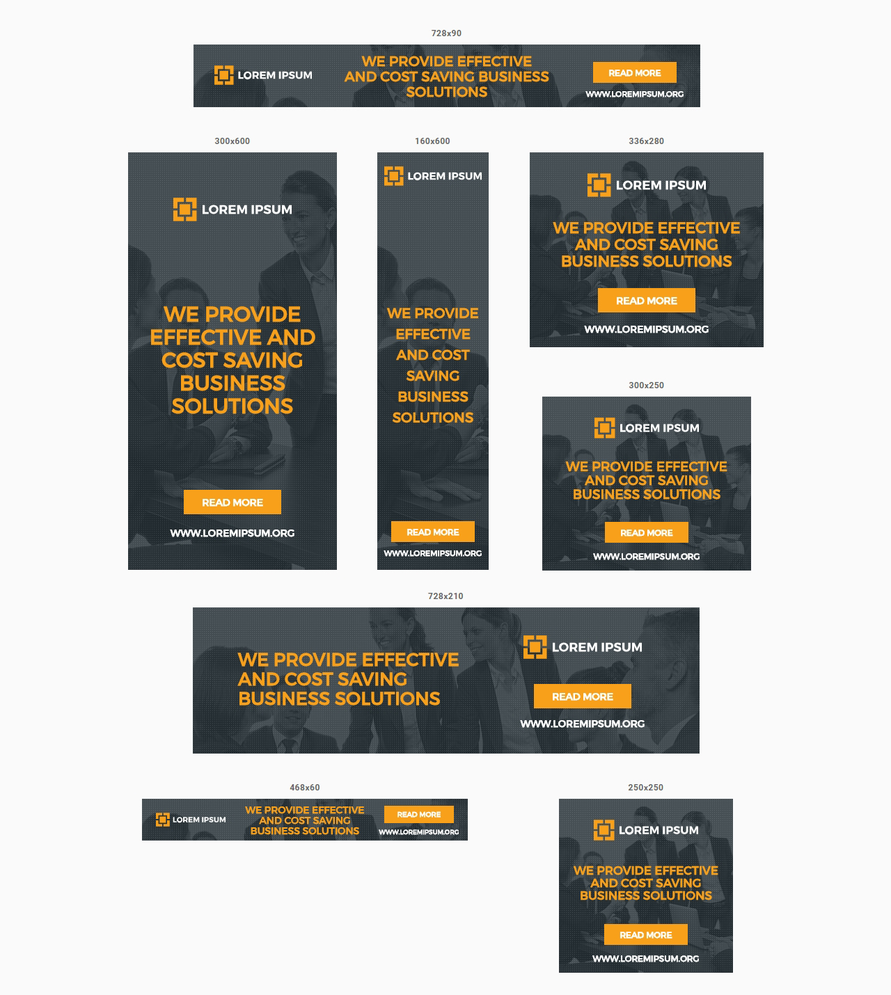 Multipurpose Business Ads - Animated HTML5 Banner Ad Templates (GWD ...