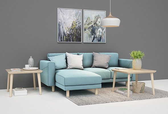Sofa setup 01 - 3DOcean Item for Sale