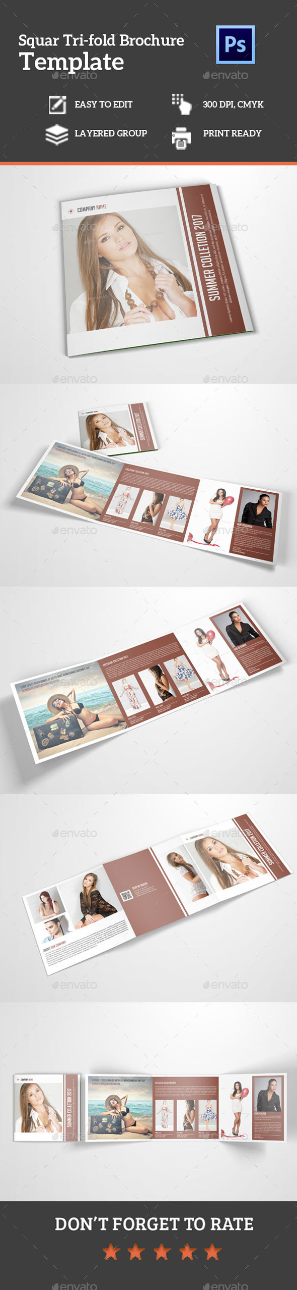 Square Tri-fold product Brochure - Corporate Brochures