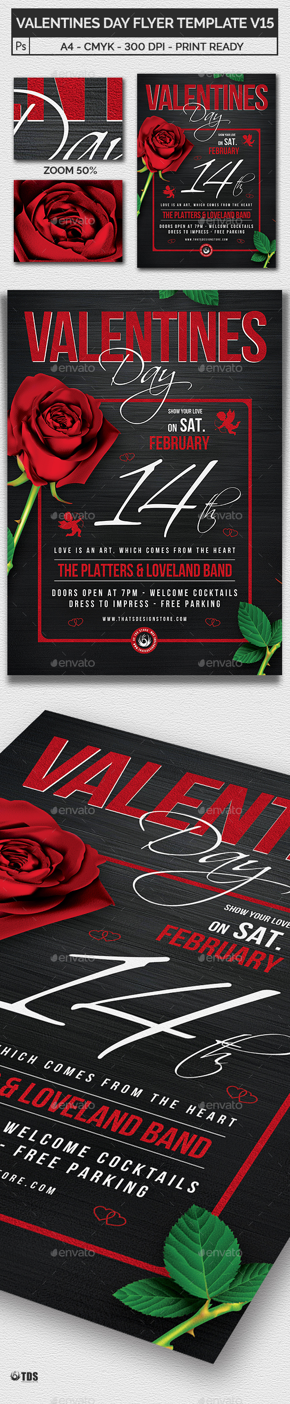 Valentines Day Flyer Template V15 - Clubs & Parties Events