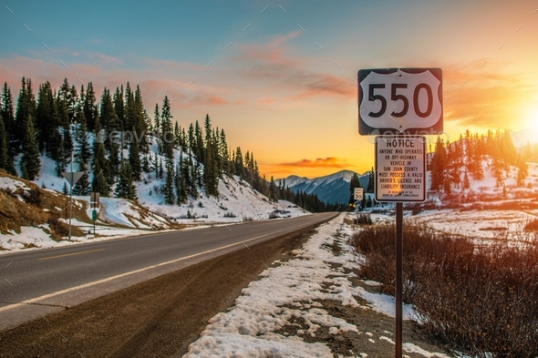 Colorado Highway 550 - Stock Photo - Images