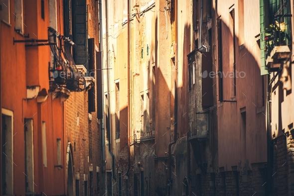 Narrow Italian Streets - Stock Photo - Images