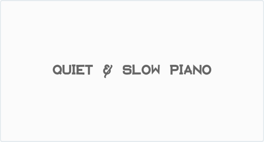 Quiet and Slow Piano