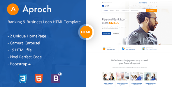 Image of Aproach - Banking & Business Loan Bootstrap-4 HTML Template
