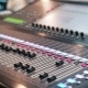 Audio Mixer in a Studio the Automatic Soundboard Knobs Moving - VideoHive Item for Sale