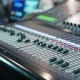 Audio Mixer in a Studio the Automatic Knobs Moving Up - VideoHive Item for Sale
