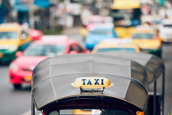 Taxi in Bangkok - Stock Photo - Images