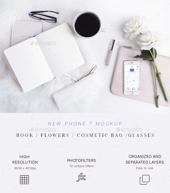 GraphicRiver Beauty & Styled Phone 7 Mockup 21190969