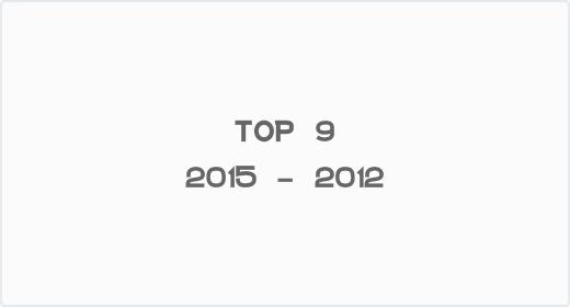 Top 9 - 2015 - 2012