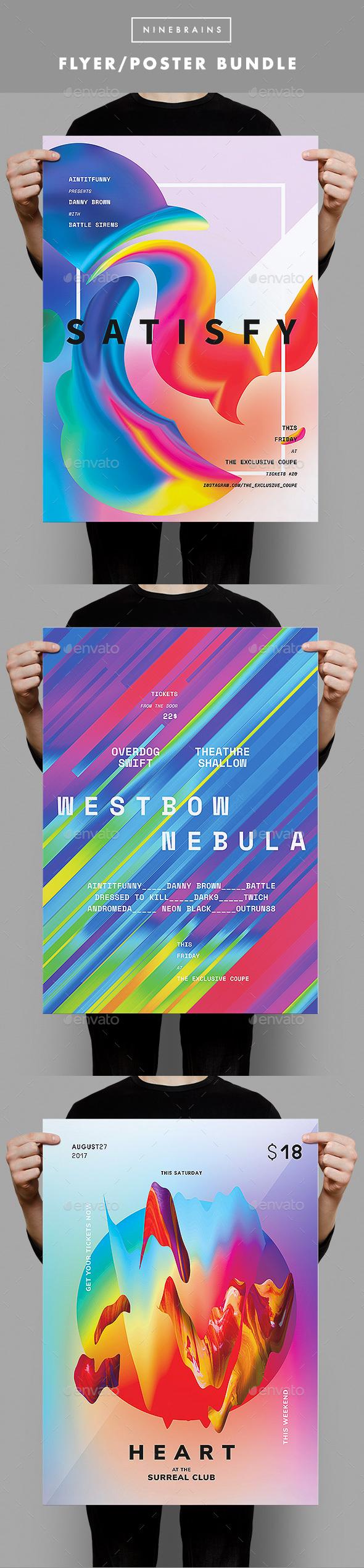 Colorful Flyer Bundle - Clubs & Parties Events