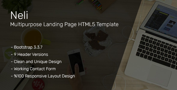 Neli Multipurpose Landing Page HTML5 Template - Corporate Landing Pages