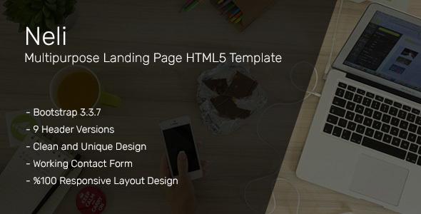 Neli Multipurpose Landing Page HTML5 Template