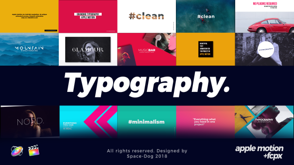 VideoHive Typography Apple Motion & FCPX 21192244