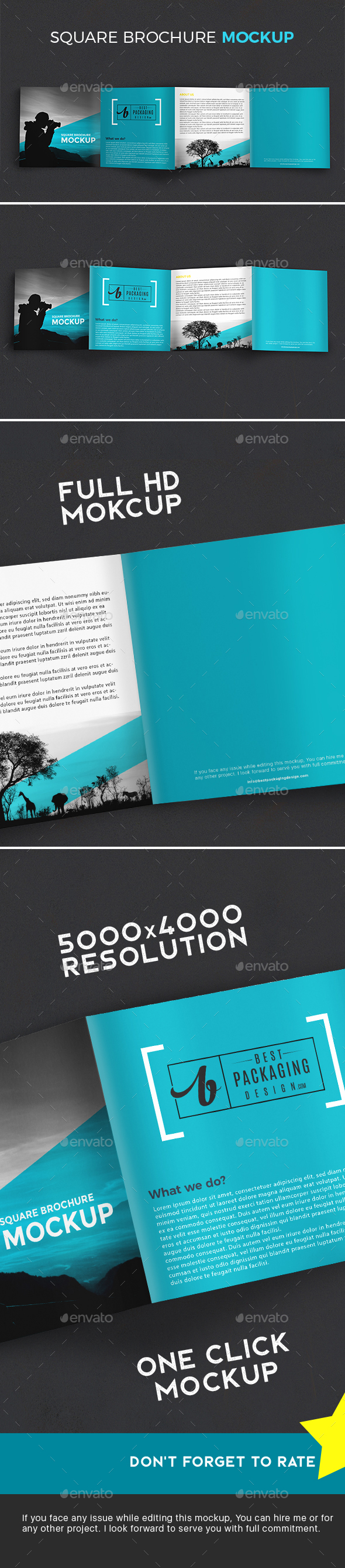 GraphicRiver 4-Fold Brochure Mockup 21191241