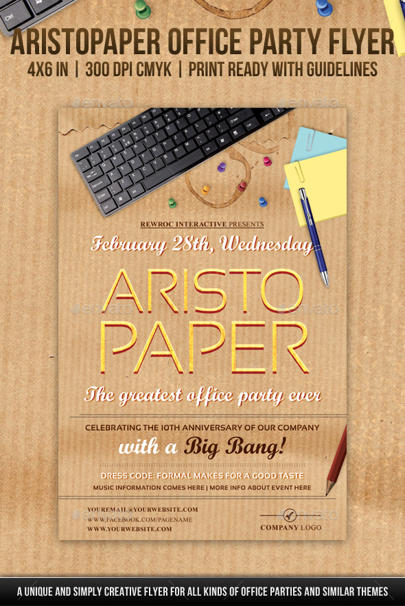 AristoPaper Office Party Flyer - Miscellaneous Events