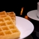 Waffles and Green Tea for Breakfast - VideoHive Item for Sale