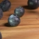Blueberries Falls on the Wooden Table - VideoHive Item for Sale