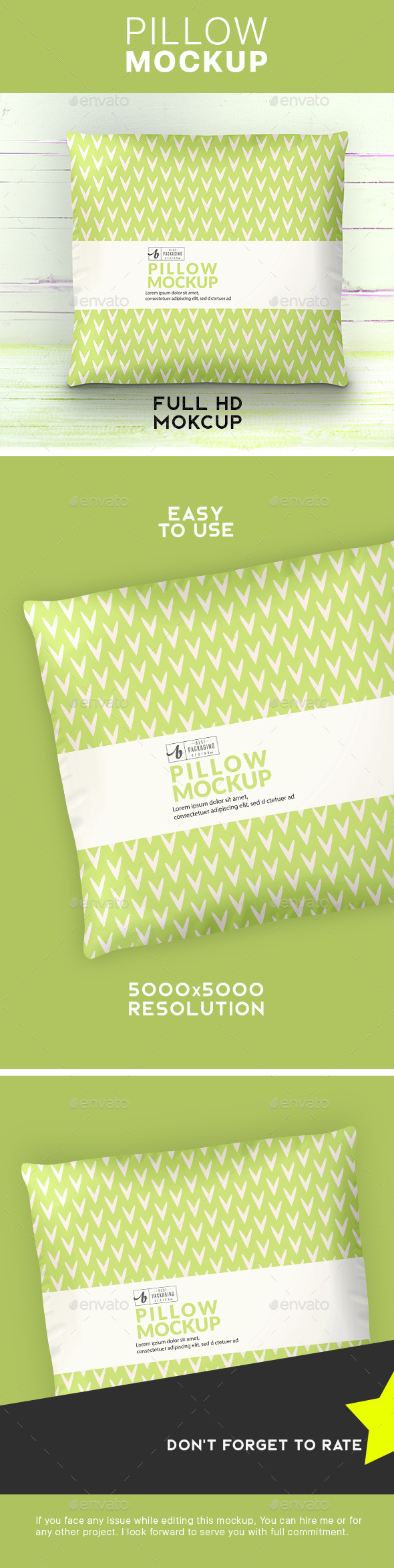 GraphicRiver Square Pillow Mockup 21190523
