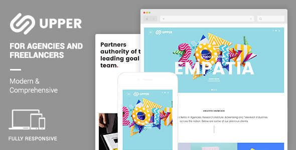 Upper Responsive Muse Template | Modern & Comprehensive Portfolio - Creative Muse Templates