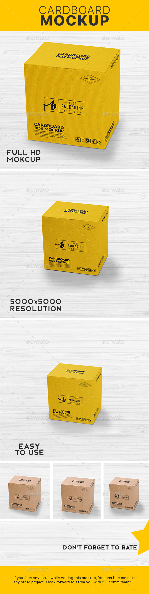 GraphicRiver Cardboard Box Mock-Up 21190646