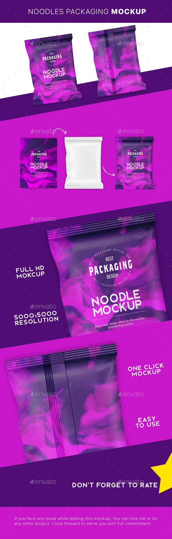 GraphicRiver Noodle Pouch Mockup 21166639