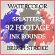 Watercolor, Paint Splatters, Ink Rounds & Brush Stroke PACK - VideoHive Item for Sale