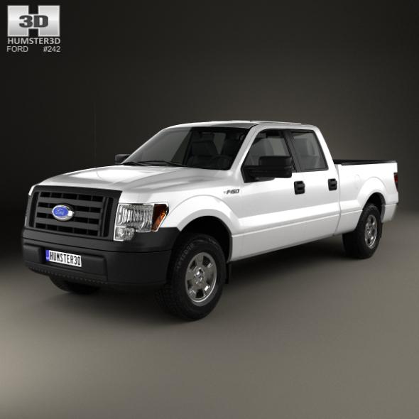 Ford F-150 Super Crew Cab XL 2014 - 3DOcean Item for Sale