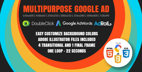 Multipurpose Google Ad - Animated HTML5 Banner Ad Templates (GWD) - CodeCanyon Item for Sale