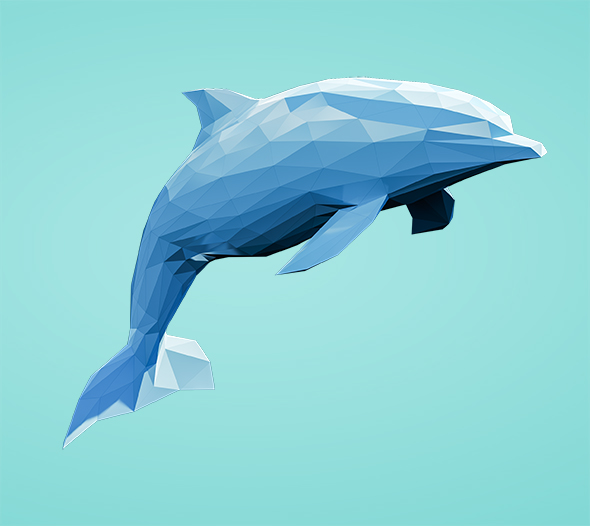 Lowpoly Dolphin 001 - 3DOcean Item for Sale