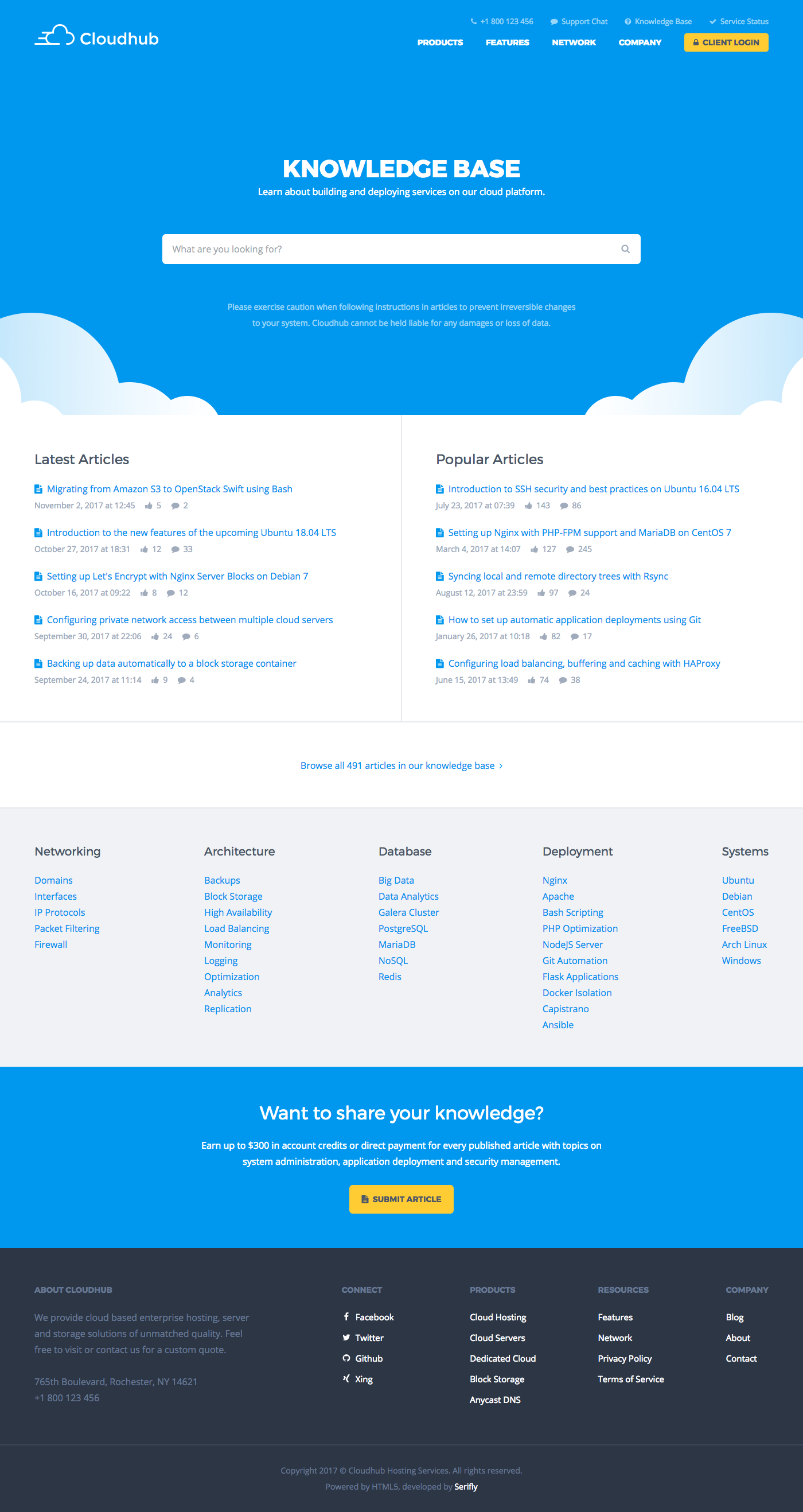 Cloudhub Hosting And Technology Html Template By Serifly Themeforest