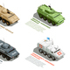 Army Military Vehicles Isometric Set